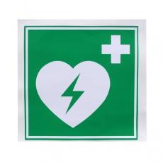 Lifeline AED Vinyl-Aufkleber 10x10cm