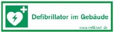 Lifeline Aufkleber -Defibrillator im Gebäude-