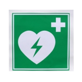 Lifeline AED Kunststoff Schild 15x15cm